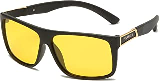 FJCY - Gafas de Sol polarizadas cuadradas, retráctiles, para Conducir, de Goma, cuadradas, Gafas de Sol para Hombres Famosos, Gafas de Sol polarizadas para Damas, hombres-Kmj812-C4