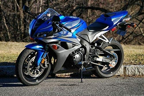 Lorababer Selling rankings San Antonio Mall Blue with Silver Motorcycle Plastic Fair ABS Injection