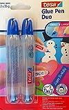 Tesa Glue Pen Duo per bricolage con apertura piccola e grande, 2 x 35 g