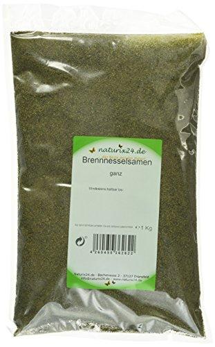 Naturix24 Brennnesselsamen ganz, 2er Pack (2 x 1 kg)
