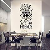 Atiehua Wandtattoos Küche Zitate Wandtattoo'Die Besten Weine Mit Freunden' Wandaufkleber Esszimmer Küche Wand Kunst Wandhauptdekor