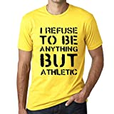 One in the City Hombre Camiseta Vintage T-Shirt Anything but Athletic Amarillo pálido