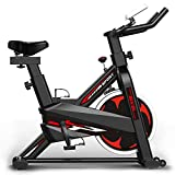 TITO Bicicleta estática para Interiores Bicicleta giratoria para Uso en el hogar/Gimnasio, Bicicleta Entrenamiento Ajustable, para Entrenamiento Cardiovascular en casa (Black)