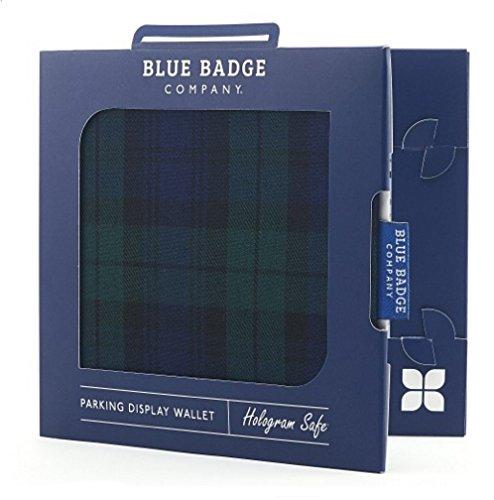 Disabled Blue Badge Holder permesso di parcheggio e timer in tessuto copertura della protezione Blackwatch