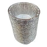 Fenteer Moldes para Pasteles Profundos del Papel De Aluminio Redondos Desechables para Recalentar La Caja Fuerte Duradera del Horno - 120ml 50Pcs