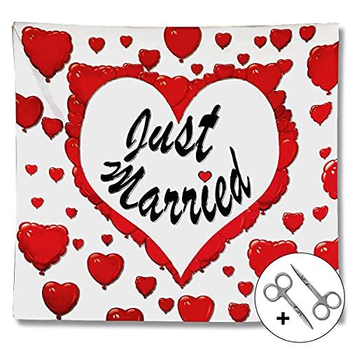 SimplyWedding corazón de boda para recortar, hoja de boda con corazón para...