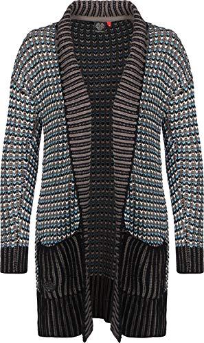 Ragwear Strickjacke Damen CILA 1921-35006 Schwarz Black 1010, Größe:XS