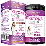 Nurse Hatty - Keto Strips – Fresh – USA-Made – High-Performance – eBook Incl. (150ct. Long Ketone Test Strips)