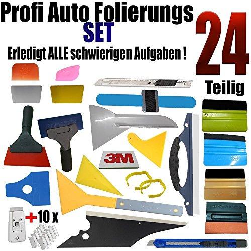 qili 24 Teilige Profie Set Auto Folierung - Scheibentönung - Rakel Set - Wand Tattoo - Aufkleber