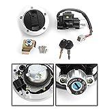 Artudatech Moto Interruptor de Arranque Set, Interruptor de Encendido con Tapón del Depósito de Combustible y Llaves para SUZU-KI GSF 650 1200 1250 Bandit