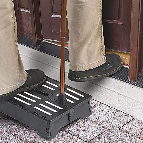 JsJr-K-In Escalera asistida de medio escalón, portátil, plegable, de plástico antideslizante, taburete de un paso para inodoro, caravana, ancianos embarazados, para entrar en tu coche, bañera o puerta