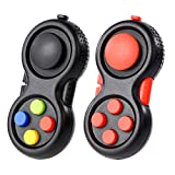 GOHEYI Game Fidget Controller Pads Toys 2Pack, Mini Fidget Game Controller Pad Pack for Kids Adults ADHD ADD, Fidget Retro Clicker Autism Stress Anxiety Relief Toy