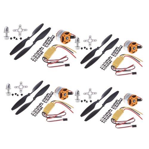 4pcs A2212 1000kV Aussenläufer Motor + 4pcs HP 30A ESC + 4pcs 1045 Prop (B) Quad-Rotor