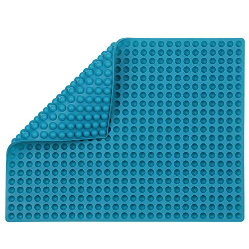 Pro-Trainers Mini Dog Treat Mold   Dimple Dot Round Size to Bake Your Own Treats for Training and Treat Dispensers. (Teal)