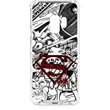 Skinit Clear Phone Case for Galaxy S9 - Officially Licensed Warner Bros Superman Comic Logo in Red Design