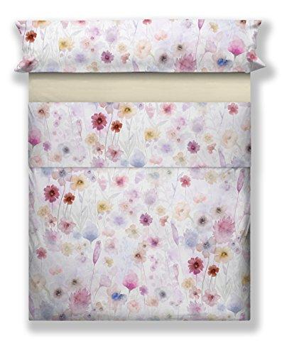 Don Algodón Savina Digital Printed Bedding Set, Cotton, White, 150 x 200 x 30 cm
