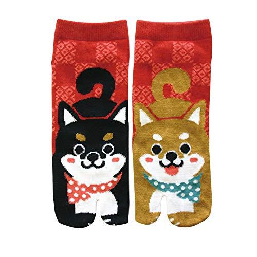 Japanese Tabi Socks For Women Design Doggy Dog