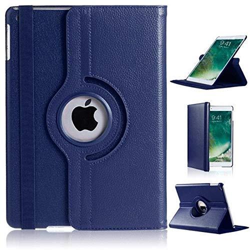 "DN-Technology New iPad 9.7 2017 Case, iPad 9.7 2018 Case, iPad Air Case, Auto Sleep/Wake Leather Smart Folio Case-5th/6th Generation-New iPad 9.7 2017/2018 Case, iPad 9.7"" Case,(iPad 5/6 Case)(BLUE)"