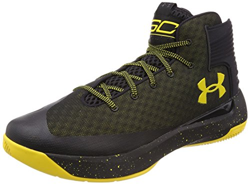 Under Armour Men's Curry 3 Basketball Shoes (1269279-006) (Black/White/White) (UK 9.5 / EU 44.5 / US 10.5 / cm 28.5)