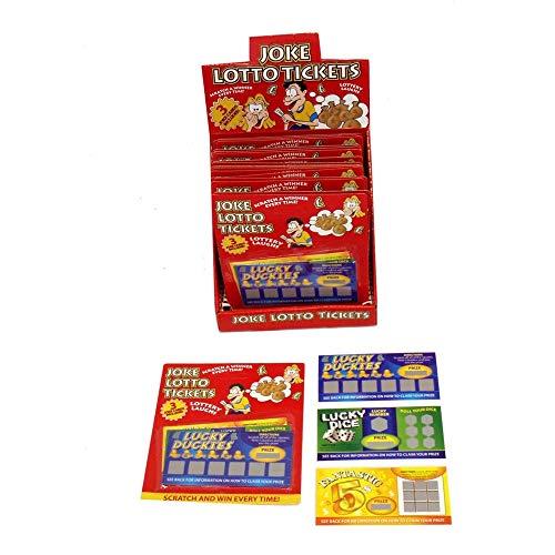 Ardisle falso scherzo lotteria Scratch Card Lottery Ragazzi Giocattolo Regalo scherzo Calza di Natale Filler scherzo biglietti vincere vinto gag biglietto penale fine falso trucco