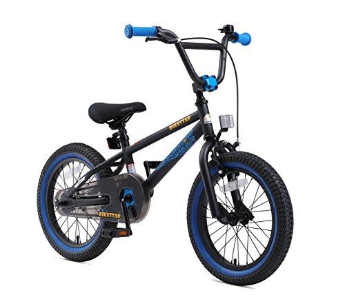 BMX Bikes BIKESTAR Premium Safety Sport Kids Bike Bicycle for Kids age 4-5 year old children   16 Inch BMX Edition for boys and…