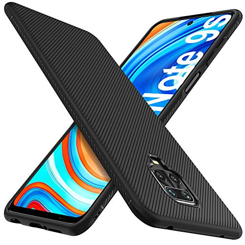 iBetter Kompatibel mit Xiaomi Redmi Note 9S Hülle, Ultra Thin Stoßfest Hülle Handyhülle Schutzhülle Shock Absorption passt Kompatibel mit Xiaomi Redmi Note 9 Pro Hülle Smartphone,Schwarz