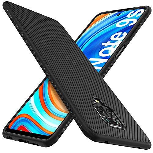iBetter für Xiaomi Redmi Note 9S Hülle, für Xiaomi Redmi Note 9 Pro Hülle, Ultra Thin Silikon Handy Stoßfest Hülle Schutzhülle Shock Absorption Nicht geeignet für Xiaomi Redmi Note 9 Phone,Schwarz