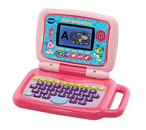 VTech 80-600954 - laptop touch 2 in 1, colore: Rosa