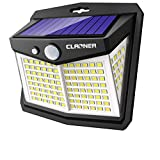 Claoner Solar Lights Outdoor, 128LED 1 Pack Solar Motion Lights