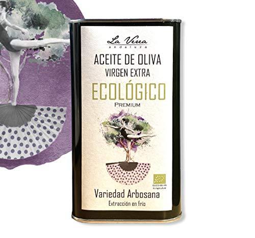 Aceite de oliva virgen extra ECOLÓGICO PREMIUM. Cosecha Temprana. Extracción en frío. Temp. 2020/21. Proviene de una sola finca, Monovarietal Arbosana. Lata de 1 Litro. Libre de Bisfenol A y BPA