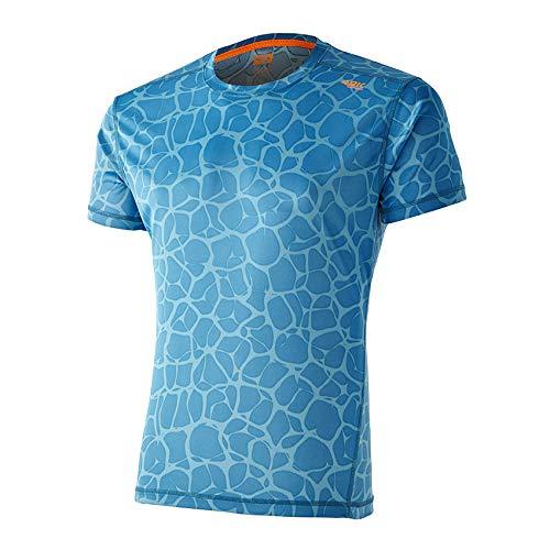 42K Running - Camiseta técnica 42k Aquarius Manga Corta Blue Indigo - Neuronal