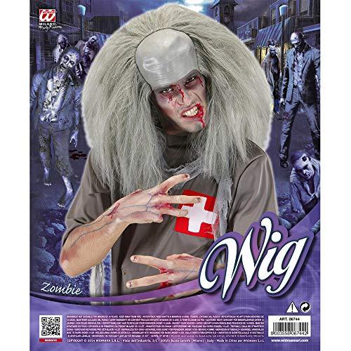 Widmann Generique - Perruque Grise Zombie Fou Homme Halloween