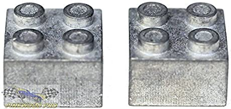 Pinewood Pro Zinc Brick Weight for Lego(R) Derby Car Racing (Set of 2)