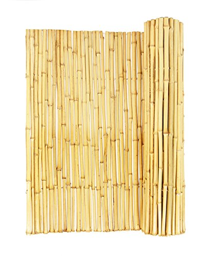 Forever Bamboo Natural Rolled Bamboo Fence .75in D...