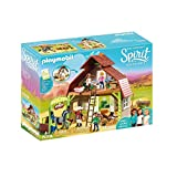PLAYMOBIL DreamWorks Spirit Establo con Fortu, Pru y Abigaíl, a Partir de 4 Años (70118)