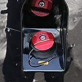 Tapón de aluminio para depósito de combustible de coche, adhesivo para Defender 110 90 accesorios de coche (rojo)