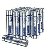 melasta Rechargeable AA Batteries, 2250mAh 16-Pack 1.2V NiMH 1200 Cycles for Outdoor Solar Lights Flashlight Toys & More