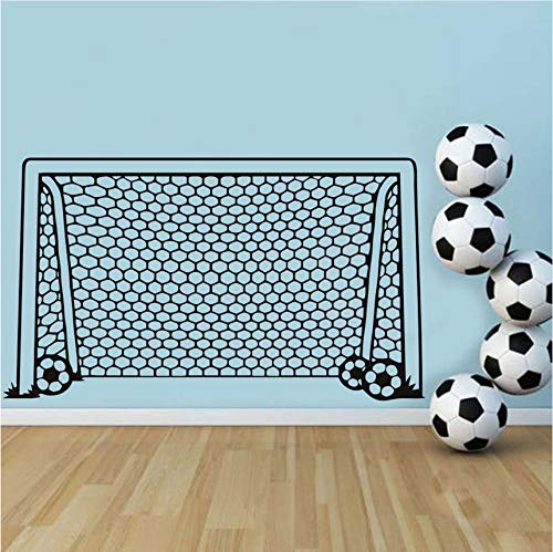 Guyuell Fußball Fußball Tor Net Ball Sport Wandtattoo Vinyl Decor Kunst Wandaufkleber Für Jungen Zimmer Kinder Kindergarten Wohnkultur Wandbild