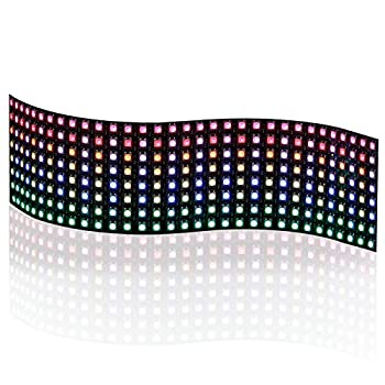Full Color RGB Flexible LED Matrix Panel 8x32 256 Pixels Individually Addressable Programmable LED Display Works with Raspberry pi or Arduino