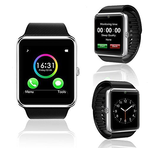 inDigi GT8 Unlocked GSM Bluetooth Pedometer Camera Smart Watch&Phone- Free 32gb SD Card