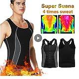 ZOOARTS Original Sweat Body Shaper Vest Men Women Gym Fitness Sweatwear Suit Weight Los (Black, 3XL)