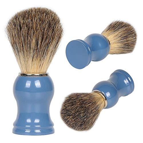 Rainbow Tree Pure Badger Hair Shaving Brush - Shave Brush for Men - Handmade Badger Hair Soft Beard Soap Brush - Professional Hair Salon Wet Shaving for Men with Wood Base Handle