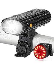 AUOPRO 自転車 ライト usb充電式 フロントライト リアライト セット ledライト 高輝度 800lm 5モード 防水 懐中電灯 夜間ライトテールライト ヘッドライト