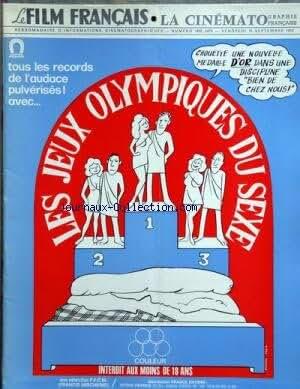 FILM FRANCAIS LA CINEMATOGRAPHIE FRANCAISE (LE) du 15-09-1972 LES JEUX OLYMPIQUES DU SEX