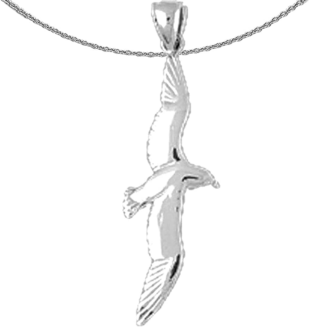 Jewels Obsession Gold Bird 100% quality warranty! Necklace White Seagull Pen 14K San Francisco Mall