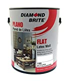 Diamond Brite Paint 11050 1-Gallon Flat Latex Paint High Hiding White