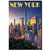 New York Fridge Magnet Central Park Photo Travel Souvenir Manhattan Plaza