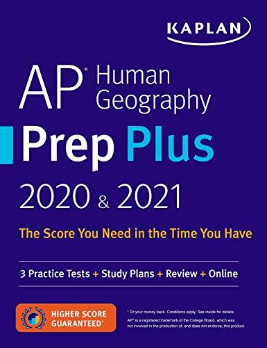 AP Human Geography Prep Plus 2020 & 2021: 3 Practice Tests + Study Plans +...