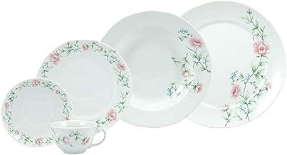 Serviço de Jantar e Chá 30 peças em Porcelana - Modelo Redondo Izabel - Decoração Teresa - Porcelana Real by Schmidt