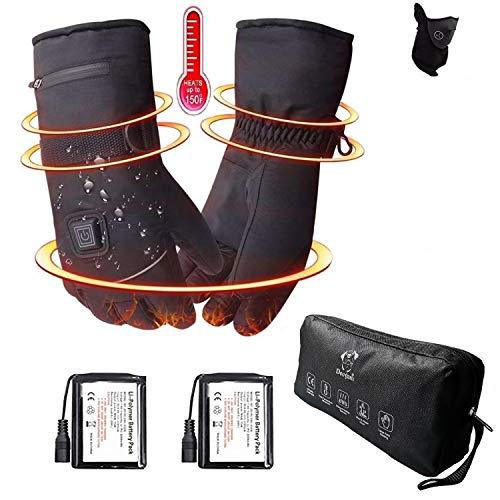 Decyam beheizte Handschuhe mit wiederaufladbare Lithium-Ionen-Batterie Beheizt für Männer und Frauen, warme Handschuhe für Das Radfahren, Motorrad, Wandern Skitouren, arbeitet bis zu 2,5-6 Stunden